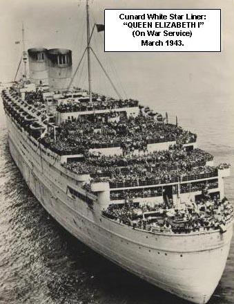 Cunard White Star Liner Queen Elizabeth (1) on War Service March 1943